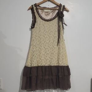 A'reve by Anthropology Lace Bow Dress Sz M